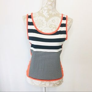 Joseph Ribkoff Striped Tank Top Sz 8 Navy 1125
